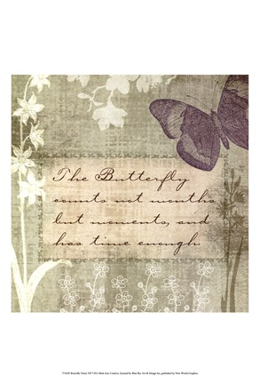 Framed Butterfly Notes VII Print