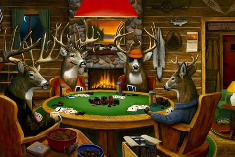 Deer Camp Fine Art Print By Leo Stans At Fulcrumgallery Com