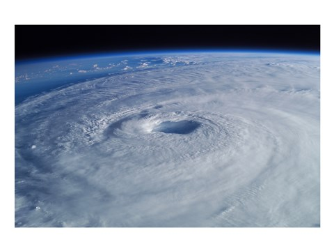 Framed Hurricane Isabel, as seen from the International Space Station Print