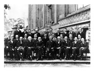 1927 Solvay Conference on Quantum Mechanics Art