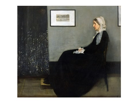 Framed Whistler's Mother Print