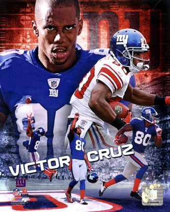 Framed Victor Cruz 2012 Portrait Plus Print
