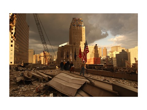 Framed Debris On Surrounding Roofs at the site of the World Trade Center Print
