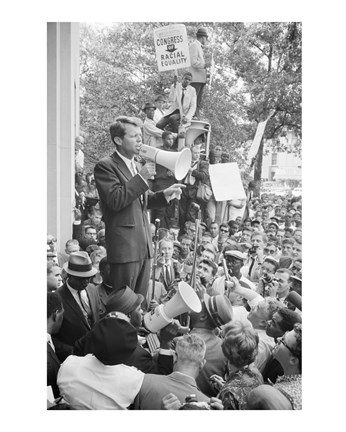 Framed Robert F. Kennedy Core Rally Speech Print