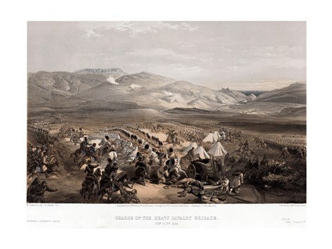 Framed Cavalry at the Battle of Balaklava Print