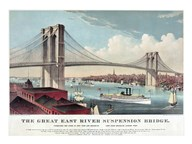The Great East River Suspension Bridge  Fine Art Print
