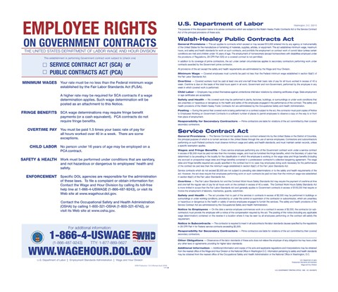 Framed Employee Rights on Government Contracts 2012 Print