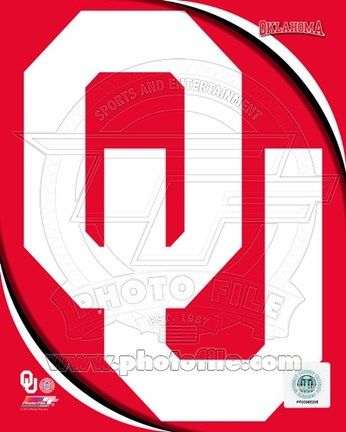 Framed University of Oklahoma Sooners Team Logo Print