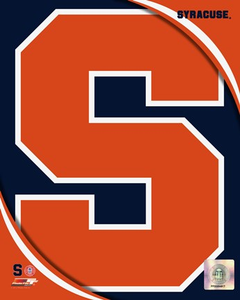 Framed Syracuse University Orangemen Team Logo Print