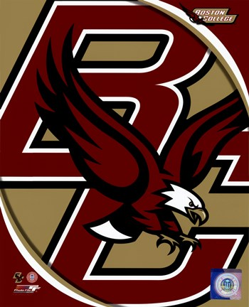 Framed Boston College Eagles Team Logo Print