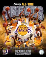 Los Angeles Lakers All Time Greats Composite  Fine Art Print