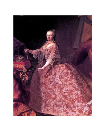 Framed Maria Theresia of Austria at the Age of 35 Print