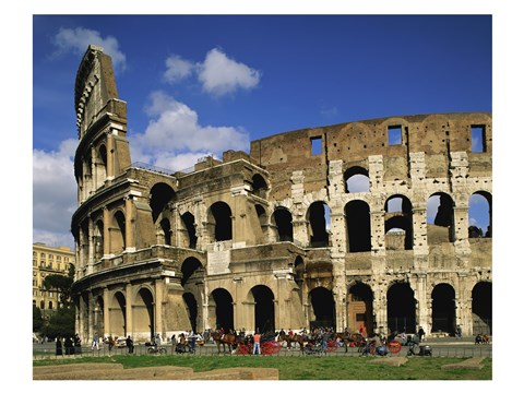 Framed Low angle view of a coliseum, Colosseum, Rome, Italy Print