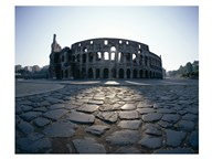 View of an old ruin, Colosseum, Rome, Italy Art