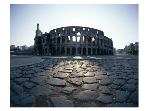 Framed View of an old ruin, Colosseum, Rome, Italy Print