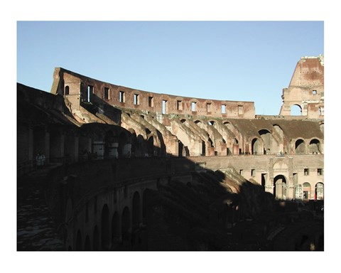 Framed Roman Colosseum, Interior Print