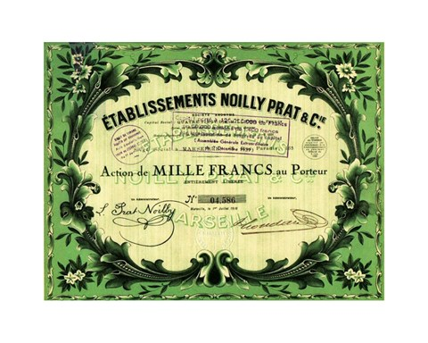 Framed Action Noilly Prat Wine Print