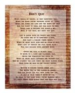 Don't Quit Poem  Fine Art Print