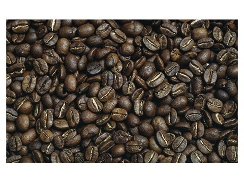 Framed Close-up of coffee beans Print