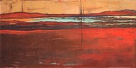 Red Horizon I Art
