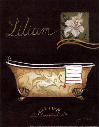 Framed Lilium Bath - mini Print