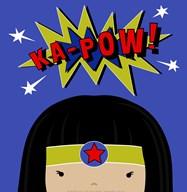 Peek-A-Boo Supergirl  Fine Art Print