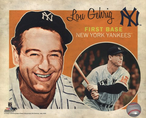 Framed Lou Gehrig 2012 Studio Plus Print