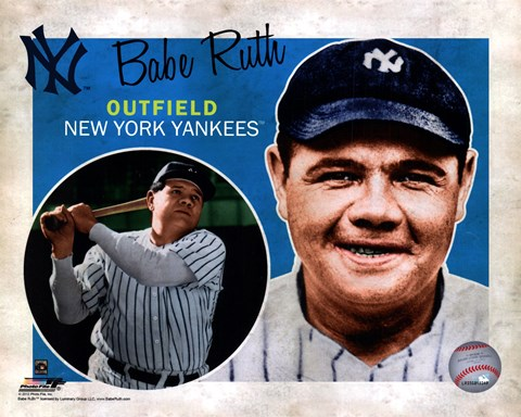 Framed Babe Ruth 2012 Studio Plus Print