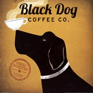 Black Dog Coffee Co  Fine Art Print