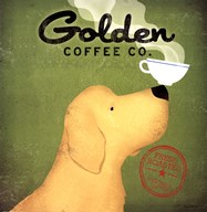 Golden Dog Coffee Co.  Fine Art Print