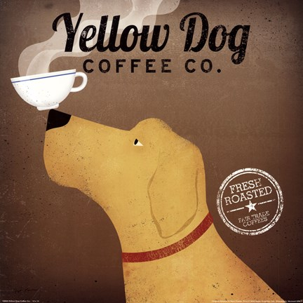 Framed Yellow Dog Coffee Co. Print