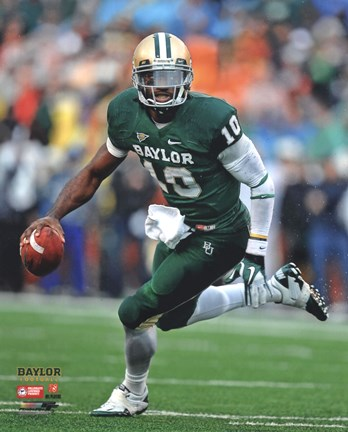 Framed Robert Griffin III Baylor University Bears 2011 Action Running Print
