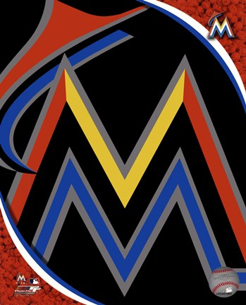 Framed Miami Marlins 2012 Team Logo Print