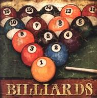 Billiards  Fine Art Print
