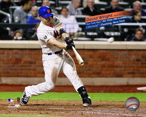 Framed David Wright New York Mets All-Time RBI Leader- April 25, 2012 Print