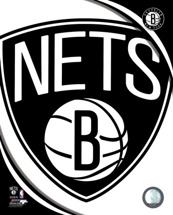 Framed Brooklyn Nets 2012 Team Logo Print