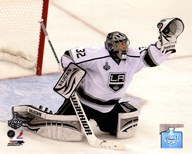 Jonathan Quick Game 2 of the 2012 Stanley Cup Finals Action  Fine Art Print