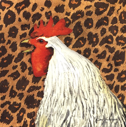 Framed Cheetah Rooster Print