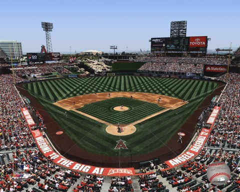 Framed Anaheim at Angel Stadium 2012 Print