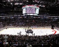 The Staples Center after the Los angeles Kings won Game 6 of the 2012 Stanley Cup Finals Art
