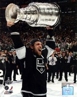 Anze Kopitar with the Stanley Cup Trophy after Winning Game 6 of the 2012 Stanley Cup Finals  Fine Art Print