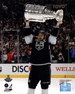 Dustin Brown with the Stanley Cup Trophy after Winning Game 6 of the 2012 Stanley Cup Finals  Fine Art Print