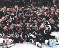 The Los Angeles Kings Team Celebration on ice after Winning Game 6 of the 2012 Stanley Cup Finals Art