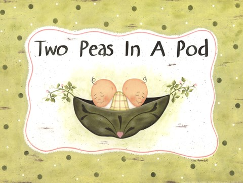 Framed Two Peas In A Pod Print