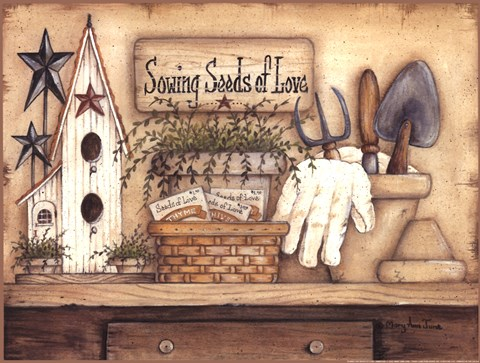 Seeds Of Love Fine Art Print By Mary Ann June At