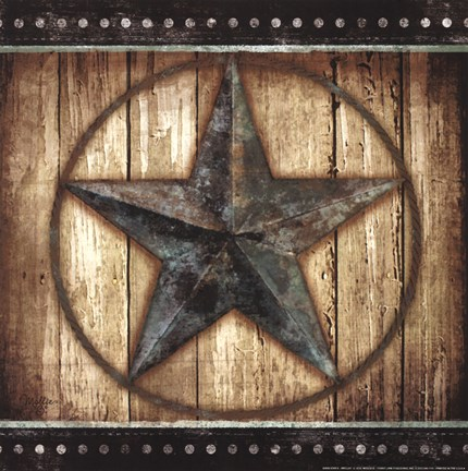 Framed Barn Star II Print