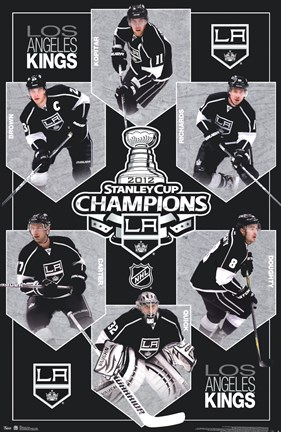 Framed 2012 Stanley Cup - Champs Print