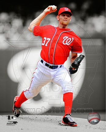 Framed Stephen Strasburg 2012 Spotlight Action Print