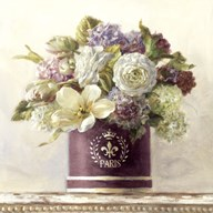 Tulips in Aubergine Hatbox Art