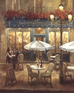 Paris Cafe I Crop  Fine Art Print